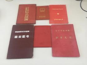 解放奖章证、四野立功证登同一人六件合售