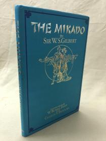 Russel  Flint彩色插图本:The Mikado  布面精装,书衣完好 洁白如新.