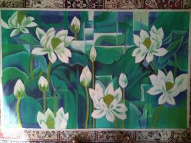 油画 大幅花卉