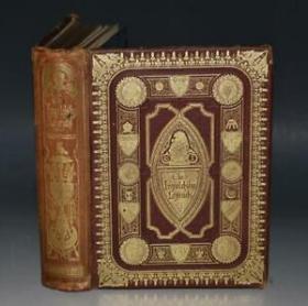1874年INGOLDSBY LEGENDS 英国玄怪惊悚文学开山名著《玄怪录:印戈耳支比故事集》全插图本 多枚绝美钢版画 金碧辉煌双面满堂烫金 超大开本 品佳