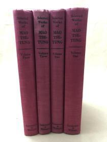Selected Works of Mao Tse-Tung(Volumes1-4)《毛泽东选集》伦敦版1-4卷 布面精装