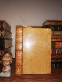1899年  BARRACK-ROOM BALLADS AND OTHER VERSES BY RUDYARD KIPLING  全皮装帧 三面刷金 18.3X12CM