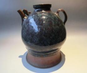 传世美品、粗犷雅致、紫砂胎底、晚清民国宜钧窑油壶