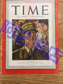 """【现货】时代周刊杂志 Time Magazine, 1941年,二战特别报道,封面 """"法国总统戴高乐,法国人民尊称他为""""戴高乐将军"""",珍贵史料!"""