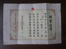 1956年徐州市机关初级业余政治学校总校结业证书(孙同志)
