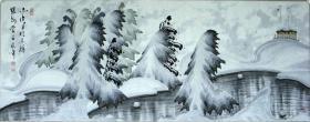 ◆◆于志学冰雪山水国画精品◆◆规格180*90厘米◆◆编号08052