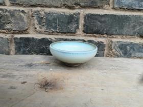 元土均窑月白小茶盏