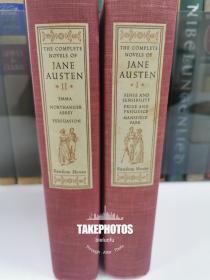 The Complete Novels of Jane Austen《简·奥斯汀小说全集》Random house 1950年出版 布面精装 全两卷 Warren Chappell 经典插图本