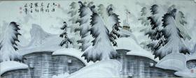 ◆◆于志学冰雪山水国画精品◆◆规格180*90厘米◆◆编号08051