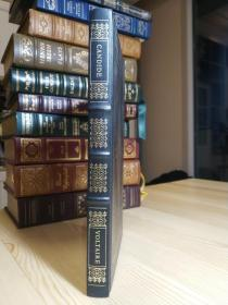 The FRANKLIN LIBRARY 1979年版 Candide 伏尔泰的老实人,皮面精装,竹节书脊,书口烫金