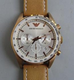 阿玛尼二手多功能石英大腕表