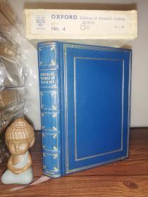 1939年 THE POETICAL WORKS OF ROBERT BURNS WITH NOTES,GLOSSARY INDEX 全皮装帧 三面刷金  带书匣  18.5X13CM