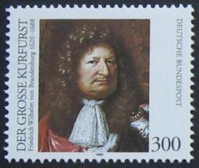 德国 1995 勃兰登堡选帝侯威廉诞生375周年 1全新