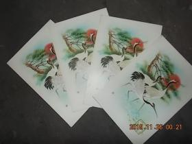 天津信笺 (老信笺) 没有书写过【4册合售】 (每页都有水印式松鹤图案、几种松鹤图案)
