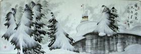 ◆◆于志学冰雪山水国画精品◆◆规格180*90厘米◆◆编号08041