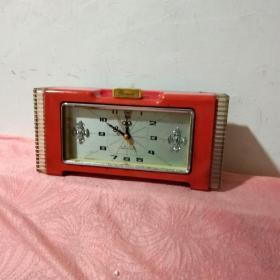 钻石牌机械红色闹钟