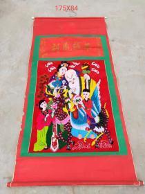 下乡收到建国初期刺绣麻姑献寿。纯手工   保存完好