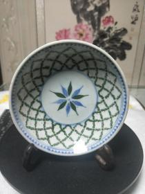 老瓷器,收来的菠萝花纹盘一个