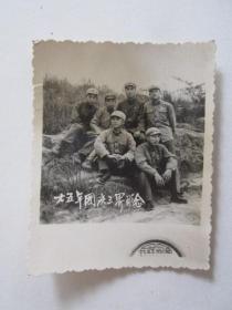 1965年国庆节军人在三界合影照片(国营长虹照相馆)