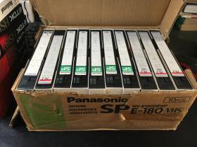 老录像带(红楼梦9盒)(麦当娜1盒)共10盒