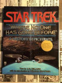 日版 英文  星际迷海 剧场版画集资料 Where No One Has Gone Before (Star Trek: All) J.M. Dillard 96年初版绝版 不议价不包邮