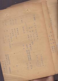 民国油印件(侵华日军在北京操纵下的广播节目单):《北京中央电台广播节目》(1938年8月24日)【节目中有程砚秋、麒麟童、梅兰芳、马连良等等人的节目,背面多字迹】
