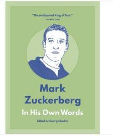 Mark Zuckerberg: In His Own Words 英文原版 馬克·扎克伯格——用他自己的話來說 商業理論