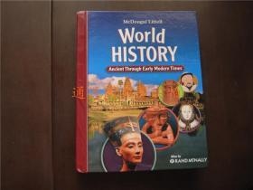 英文版:World History Ancient Through Early Modern Times(大16开精装,正版)