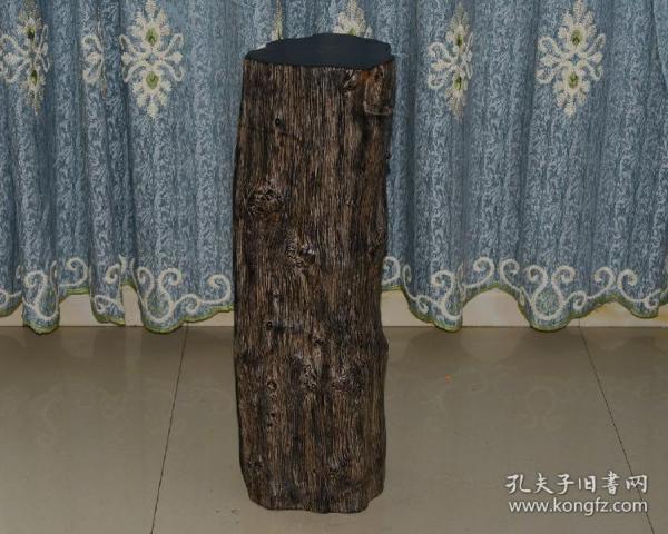 老古董古玩木雕手工雕刻收藏藝術品烏木原木陰沉木木樁60公斤