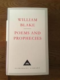 Poems and prophecies by William Blake 布莱克诗歌和预言集 Everyman's Library 人人文库 全网最低价包邮