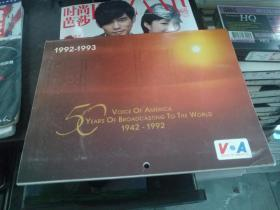 VOICE OF AMERICA 50 YEARS OF BROADCASTING TO THE WORLD 1942-1992(美国之音50周年挂历,1992-1993,大16开英文原版)