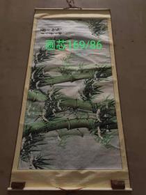 乡下刚得,纯手绘竹子横幅老画,画工精美,墨彩均匀,原装裱,尺寸品相如图,包老。