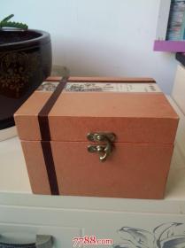 全品带原盒锡镶瓷鼓式茶叶罐