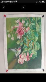 《美丽绿林》油画51+100纯手绘的