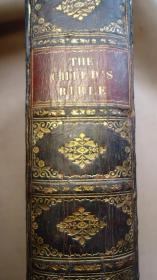 1879年- THE CHILDS BIBLE 全插图本《儿童版圣-经》全小牛皮金碧辉煌善本 超大开本 大量雕版版画插图