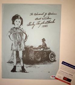 """""""超级童星"""" 秀兰·邓波儿 签名印刷肖像页 (约8×10英寸) 由三大签名鉴定公司之一PSA/DNA提供鉴定"""