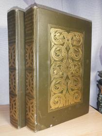 1906年 The Life of Benvenuto Cellini written by himself 2本全 切利尼自传 烫金装帧 书顶刷金 两侧毛边 插图版  24X15.8CM