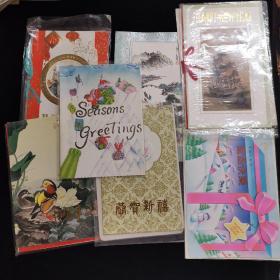 80年代 新年贺卡+邮票+信封 全新空白 一元一套5套起售 随机发多买优惠