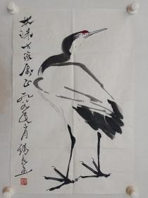 保真书画,李苦禅弟子,当代著名大写意花鸟画家邓锡良先生国画一幅,尺寸68.5×45.5cm