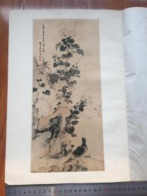 ※渡边华山※鹌鹑图※1926年限量发行高级套色木版画※