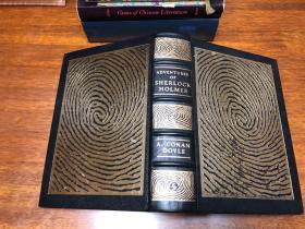 The Adventures of Sherlock Holmes Easton Press 真皮精装收藏版,书口三面刷金,能保存数百年的存档级别的无酸纸a