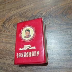 文革资料  毛泽东思想胜利万岁  彩色毛林像    林提