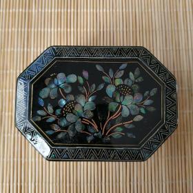 福州漆器  嵌螺钿首饰盒  q38