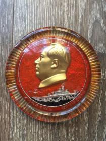 有机玻璃毛主席像章(直径14厘米)