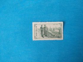 纪20 伟大的十月革命三十五周年纪念—毛泽东和斯大林  1枚(新邮票)