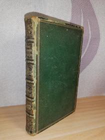 1863年 IDYLLS OF THE KING BY ALFRED TENNYSON 丁尼生田园诗  含一副精美藏书票 全皮装帧 三面刷金 17.2x11cm