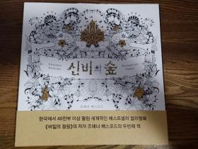 韩国正版魔法森林神密秘花园的丛林绘画涂色书填色 JOHANNA BASFORD