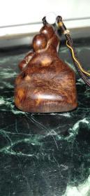 麻梨疙瘩福禄把件、木质细腻、造型精美、雕工大气、非常值得收藏把玩