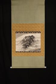 《水墨富士山》;日本回流字画 日本回流书画