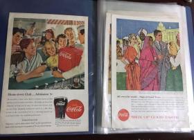 可口可乐官方正品40-60年代广告海报
